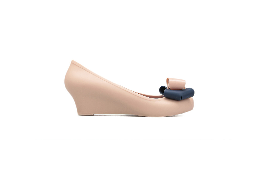 women s jelly bow wedge baby pink pumps women s shoes
